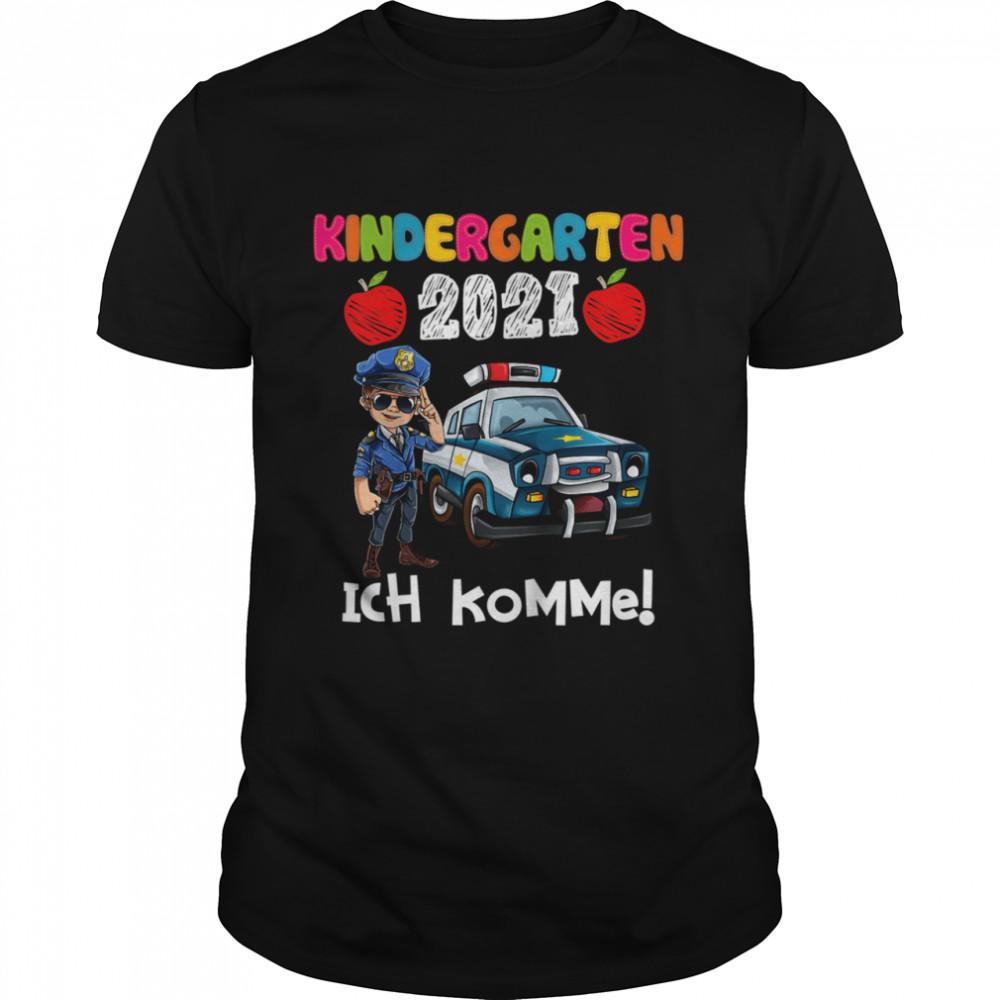 Kindergarten 2021 Ich Komme Polizist Polizeiauto Polizei shirt Classic Men's T-shirt