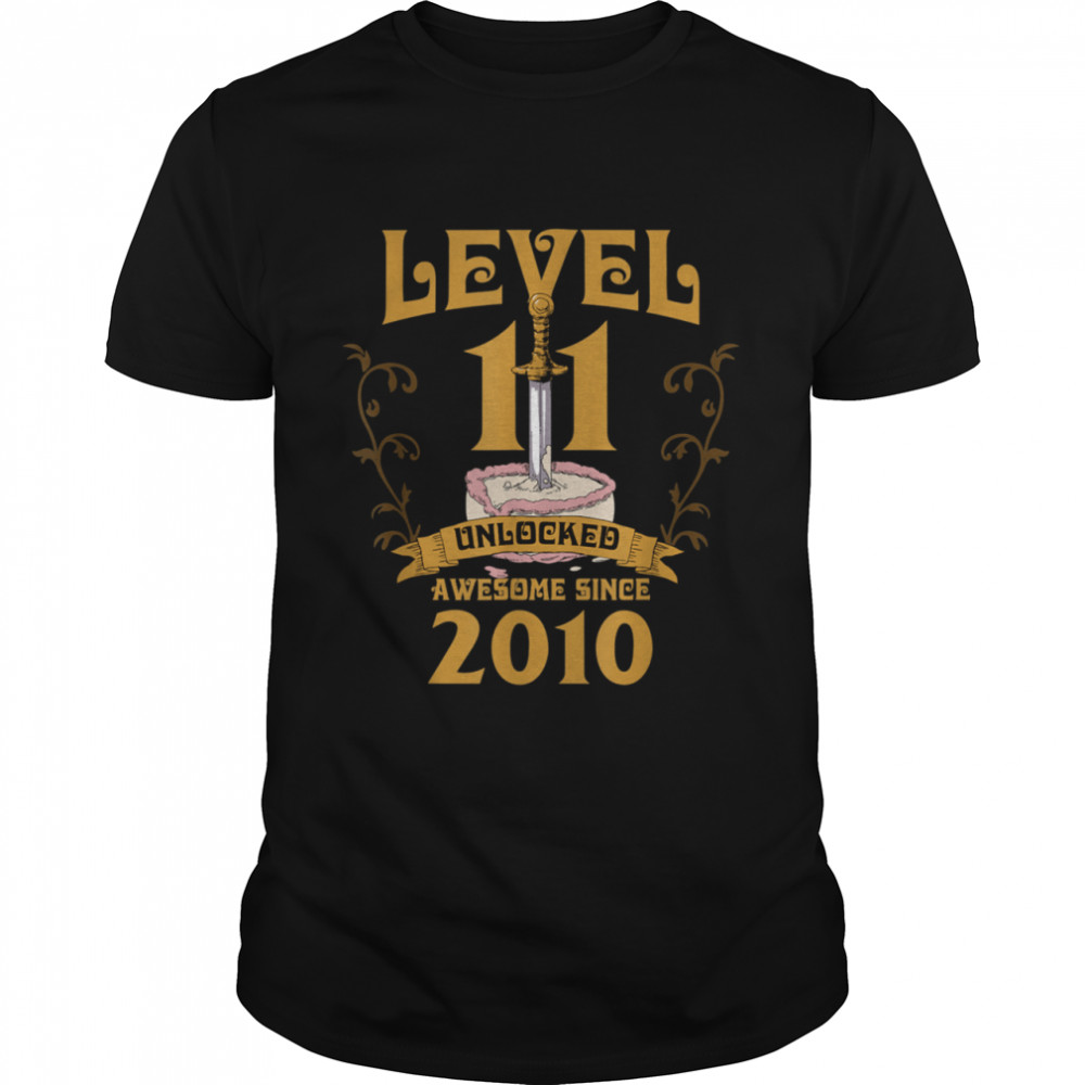 Level 11 Unlocked Gamer 11 Years Old 2010 Birthday 11th Bday shirt Classic Men's T-shirt