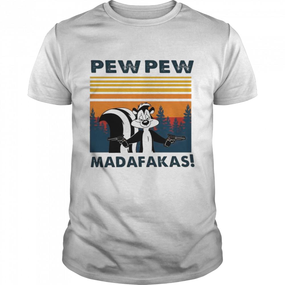Looney Tunes Rabbits Pew Pew Madafakas Vintage shirt Classic Men's T-shirt