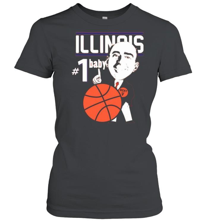 Pretty Illinois Illini University Basketball Dick Vitale 1 Baby Ncaa College Sleeveless shirt Classic Women's T-shirt