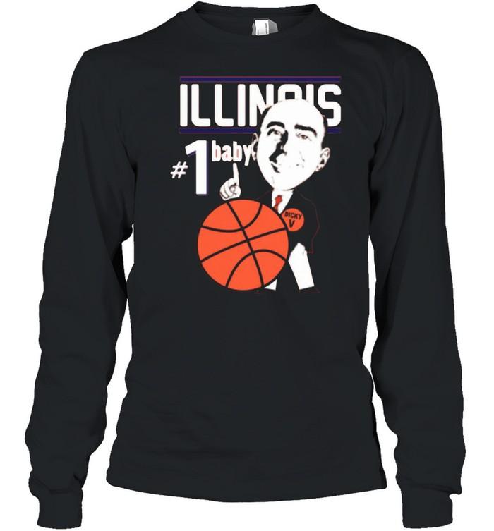 Pretty Illinois Illini University Basketball Dick Vitale 1 Baby Ncaa College Sleeveless shirt Long Sleeved T-shirt