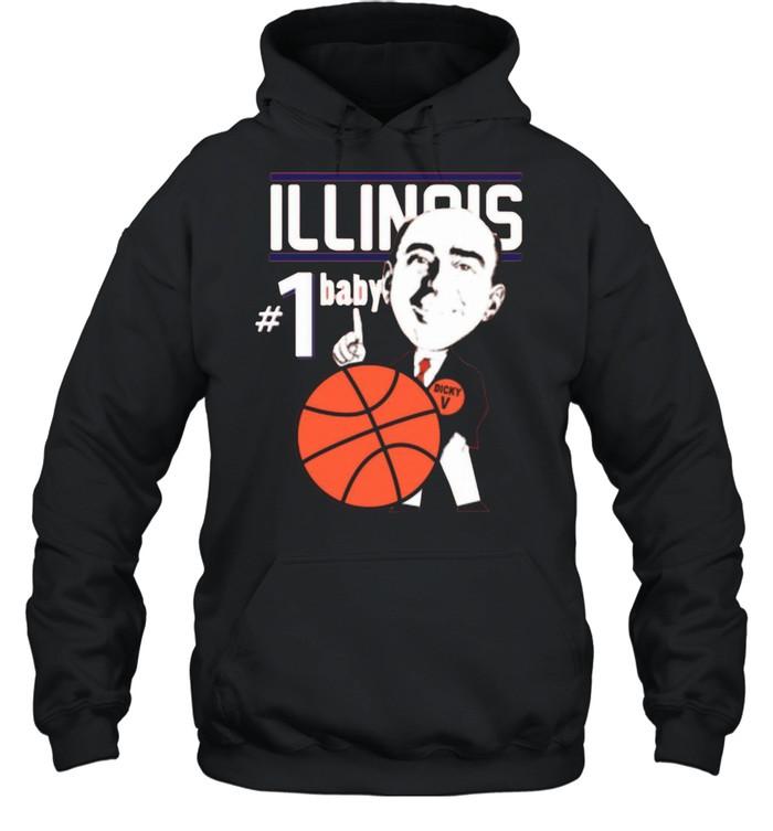 Pretty Illinois Illini University Basketball Dick Vitale 1 Baby Ncaa College Sleeveless shirt Unisex Hoodie