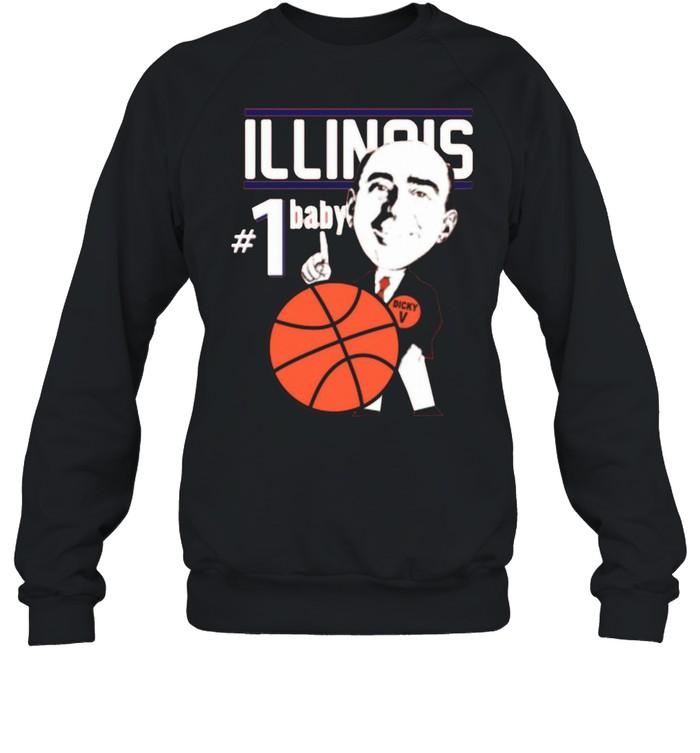Pretty Illinois Illini University Basketball Dick Vitale 1 Baby Ncaa College Sleeveless shirt Unisex Sweatshirt