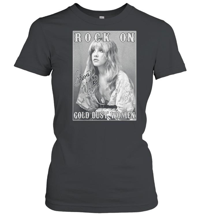 Rock On Stevie Nicks Birthday Fan Signature  Classic Women's T-shirt