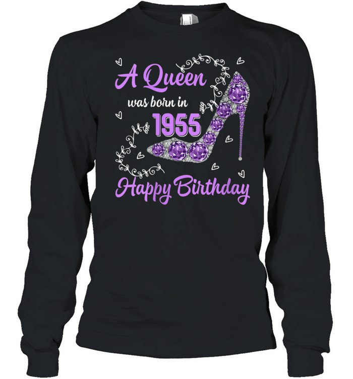Girls Was Born In 1955 Happy Bday To Me 66 Yrs old shirt Long Sleeved T-shirt