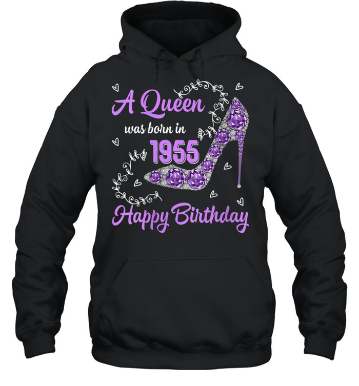 Girls Was Born In 1955 Happy Bday To Me 66 Yrs old shirt Unisex Hoodie