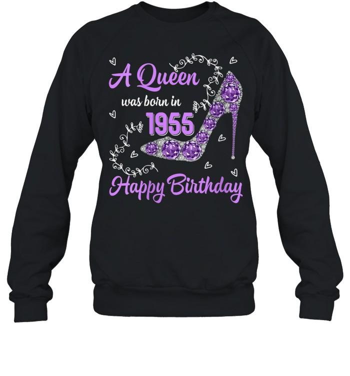Girls Was Born In 1955 Happy Bday To Me 66 Yrs old shirt Unisex Sweatshirt
