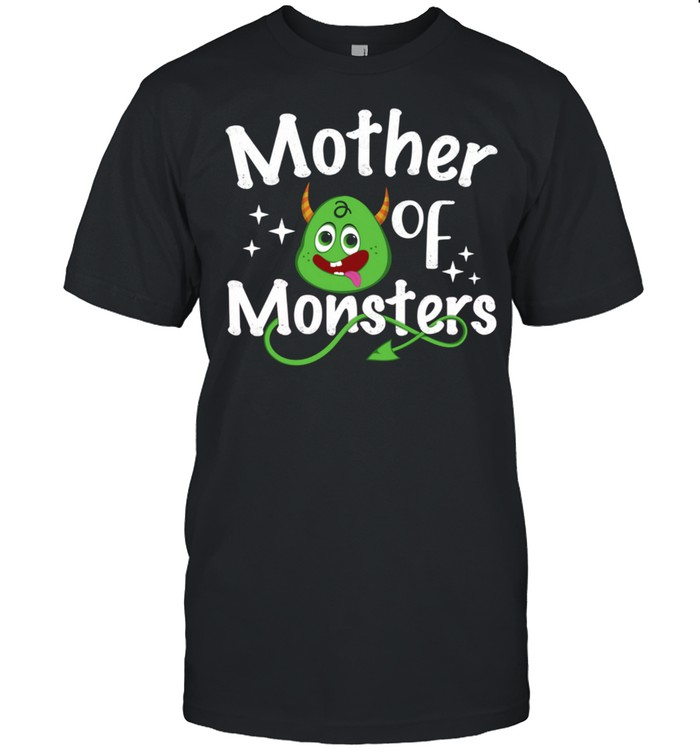 Mother of Monsters Twin Mom of Monsters Mother's Day Mama shirt Classic Men's T-shirt