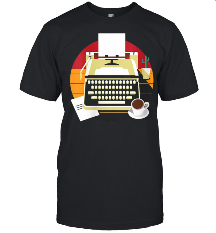 Retro Vintage Typewriter Classic Writer Author shirt Classic Men's T-shirt