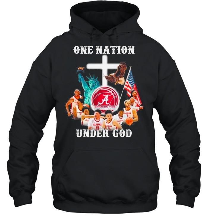 Alabama Crimson Tide Basketball Teams One Nation Under God shirt Unisex Hoodie