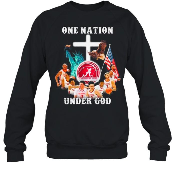 Alabama Crimson Tide Basketball Teams One Nation Under God shirt Unisex Sweatshirt