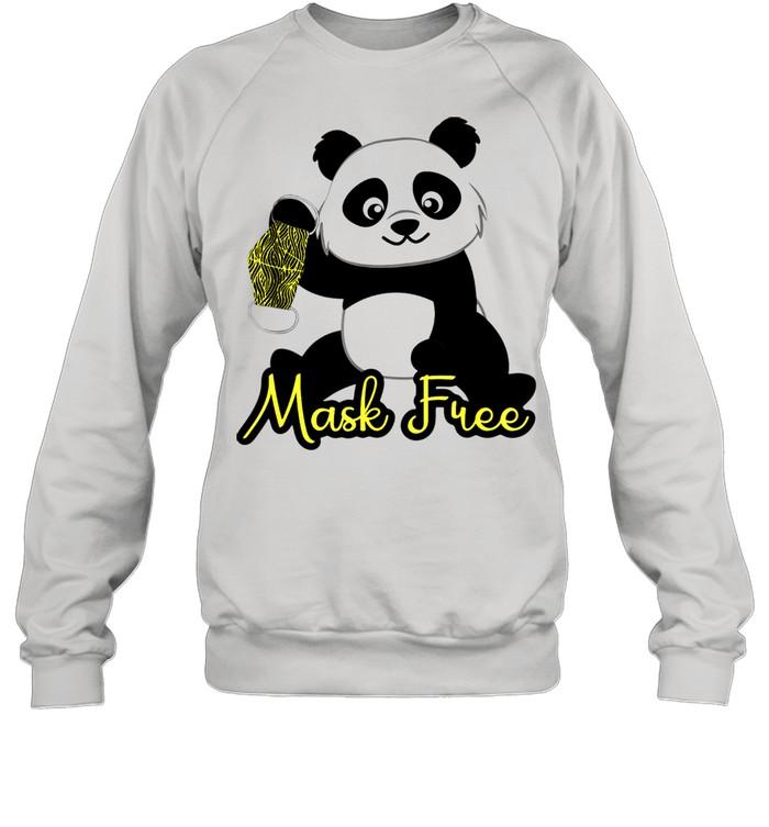 Mask Free Panda Bears shirt Unisex Sweatshirt
