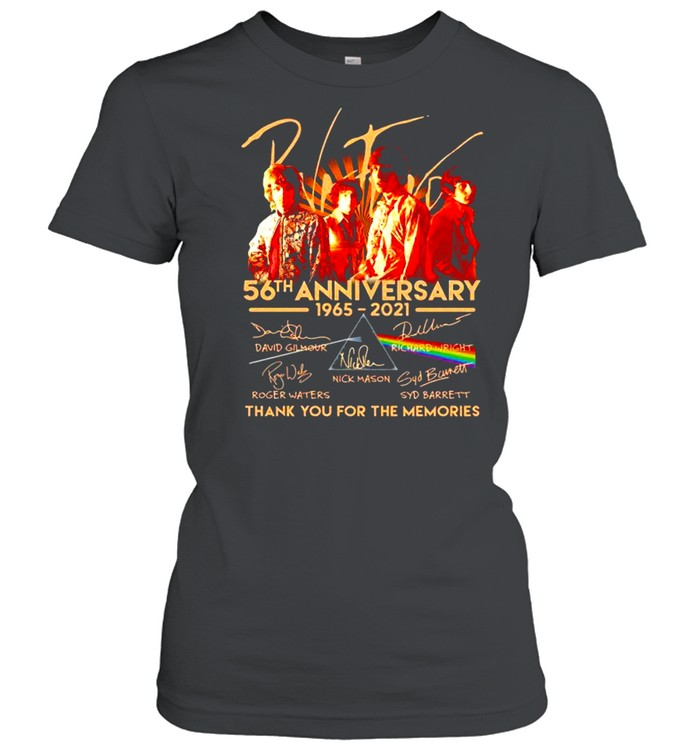 Pink Floyd 56th Anniversary 1965 2021 Thank You For The Memories Signatures Classic Women's T-shirt