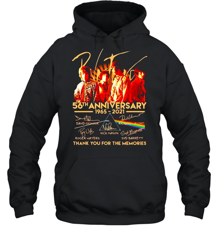 Pink Floyd 56th Anniversary 1965 2021 Thank You For The Memories Signatures Unisex Hoodie