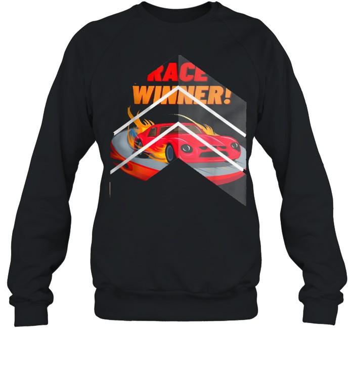Race Winner, for cars shirt Unisex Sweatshirt