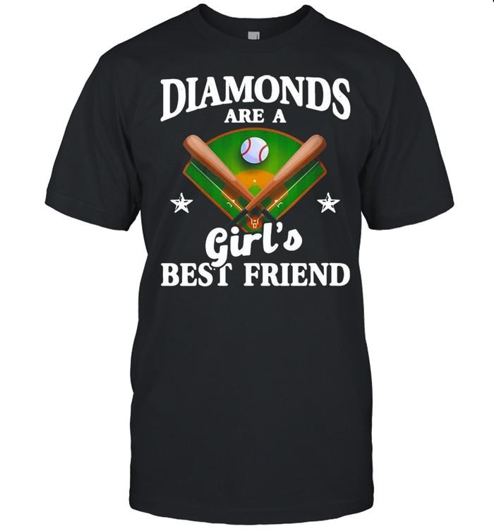 Baseball Softball Diamonds Are A Girl's Best Friend  Classic Men's T-shirt