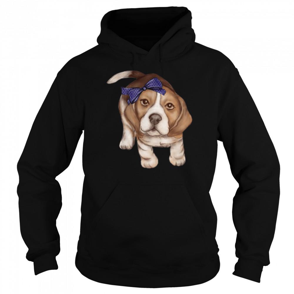 Beagle dog breed puppy art shirt Unisex Hoodie