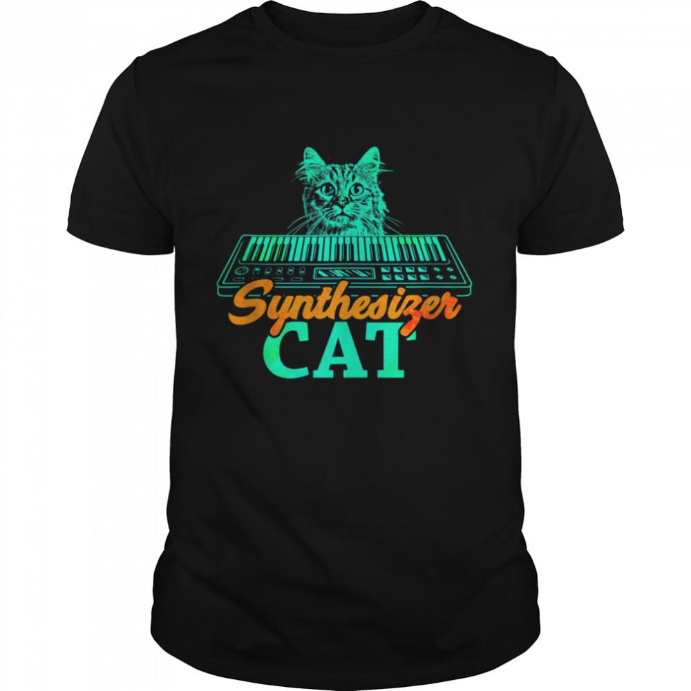 Digital Analog Drum Machine Synthesizer Player Cat shirt Classic Men's T-shirt