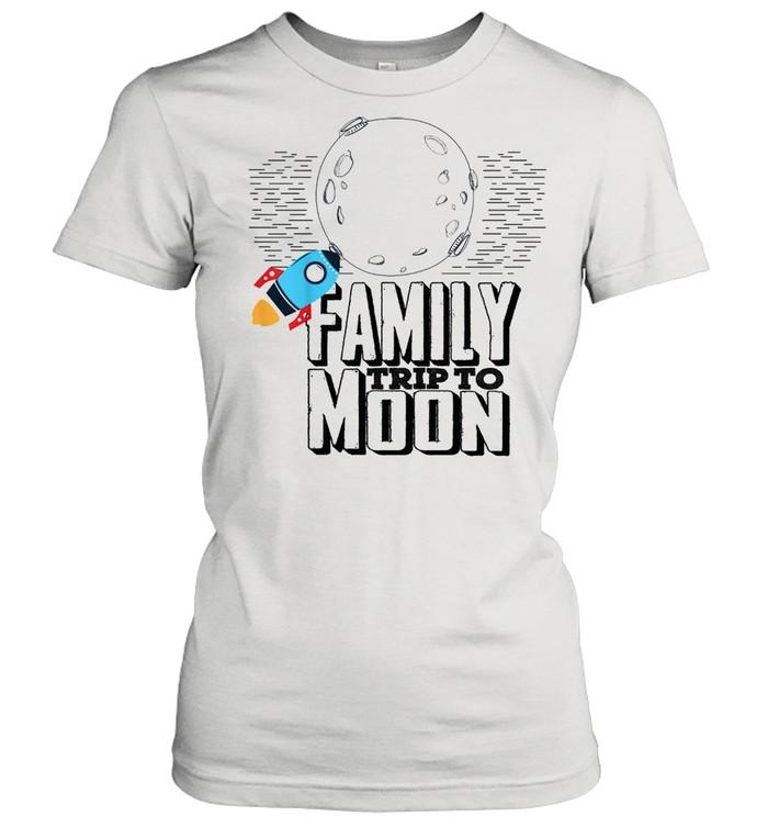 Family trip to moon shirt Classic Women's T-shirt