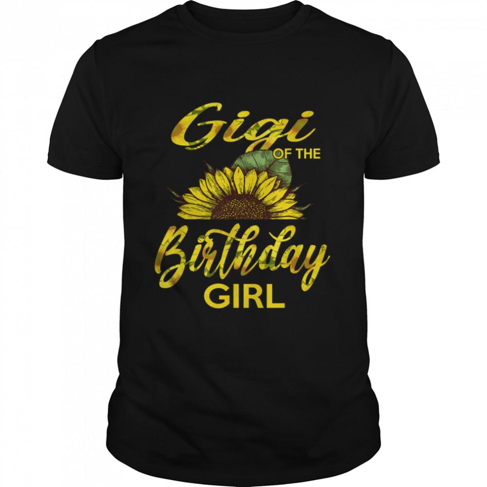 Gigi Of The Birthday Girl Mom Sunflower shirt Classic Men's T-shirt