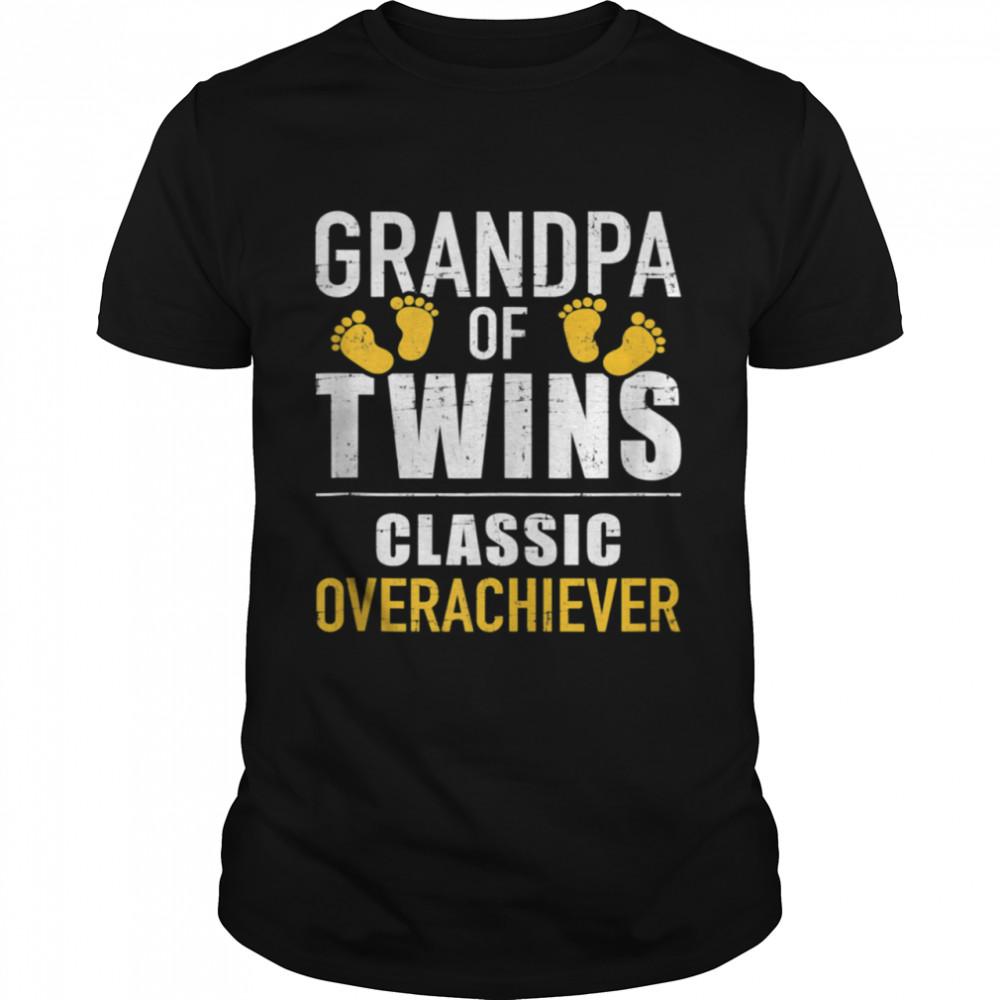 Grandpa of twins overachiever shirt Classic Men's T-shirt