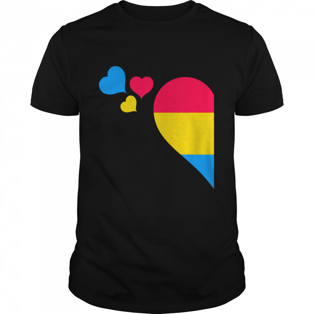 Pansexual Pride LGBT Heart Lesbian Gay Couple Valentine Day shirt Classic Men's T-shirt