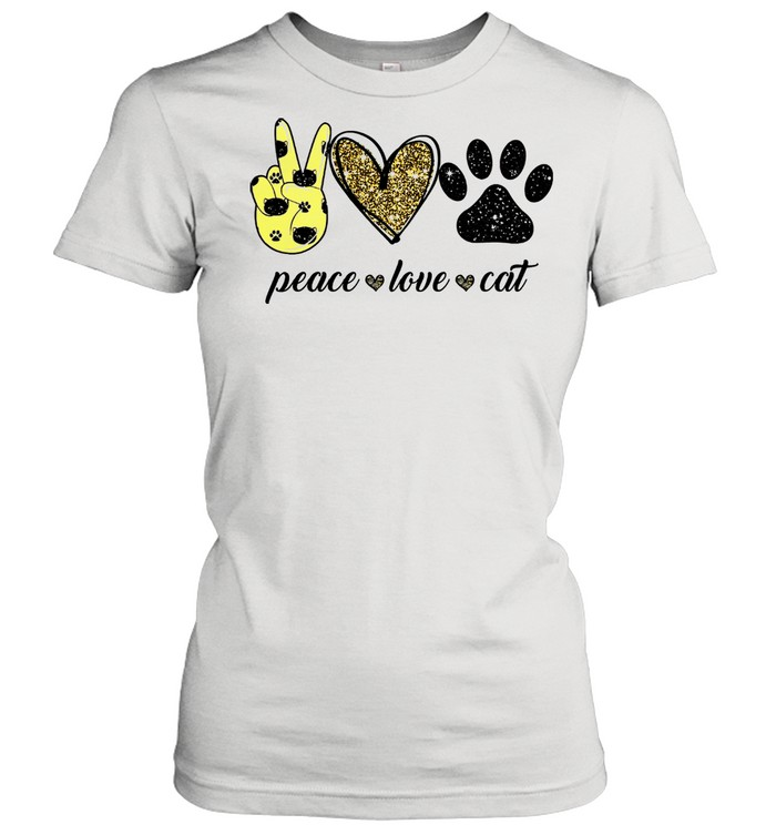Peace love Cat shirt Classic Women's T-shirt