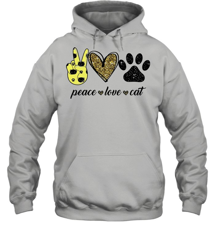 Peace love Cat shirt Unisex Hoodie