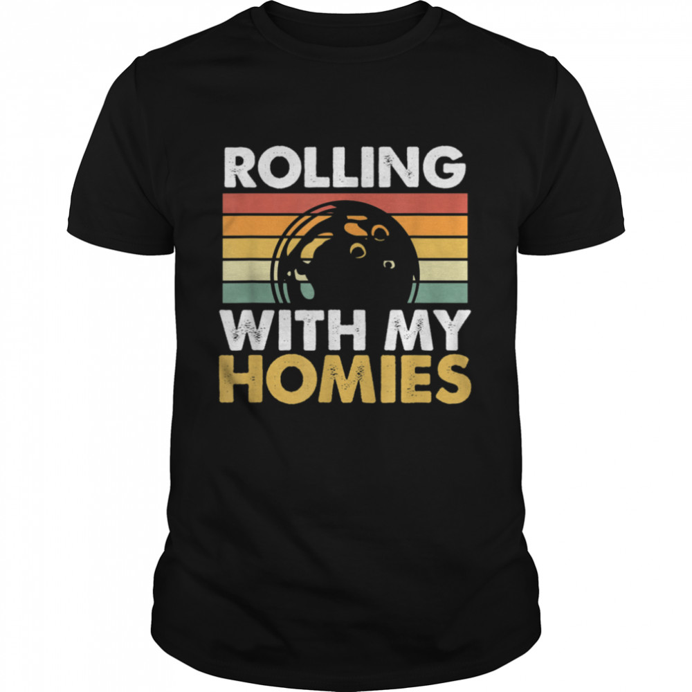 Rolling With My Homies Bowling shirt Classic Men's T-shirt