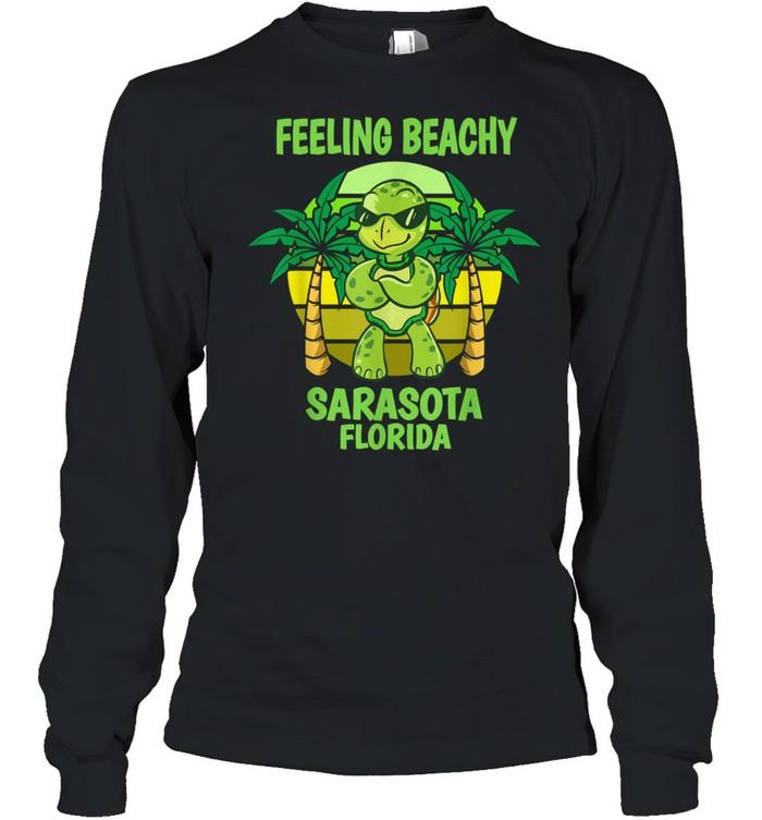 Sarasota Florida Cool Turtle Saying Vacation shirt Long Sleeved T-shirt