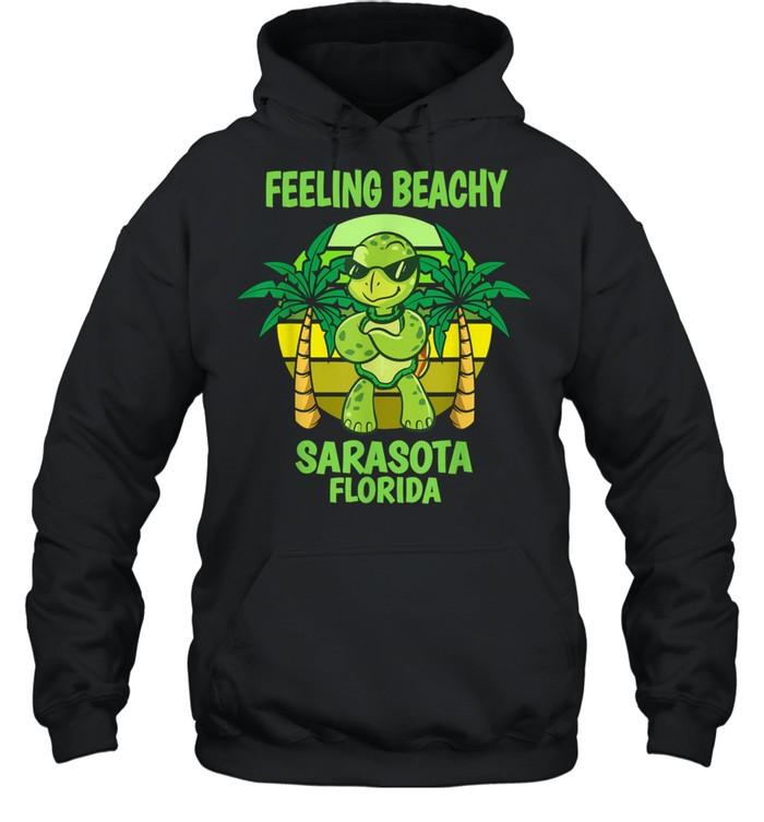 Sarasota Florida Cool Turtle Saying Vacation shirt Unisex Hoodie