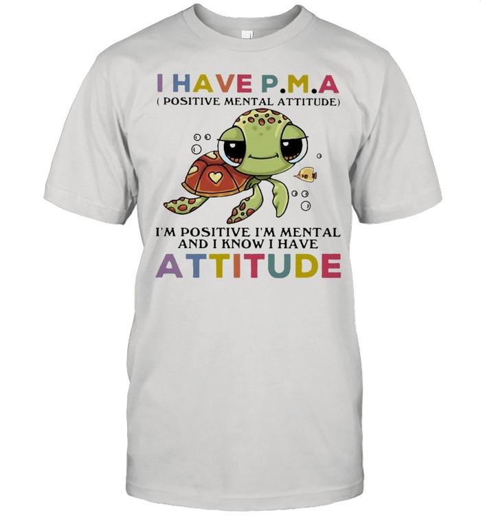 Turtle I Have Attitude Turtle Lovers  Classic Men's T-shirt