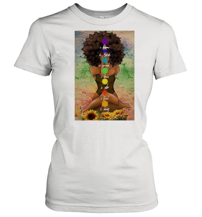 Yoga African American Wall Art  Classic Women's T-shirt