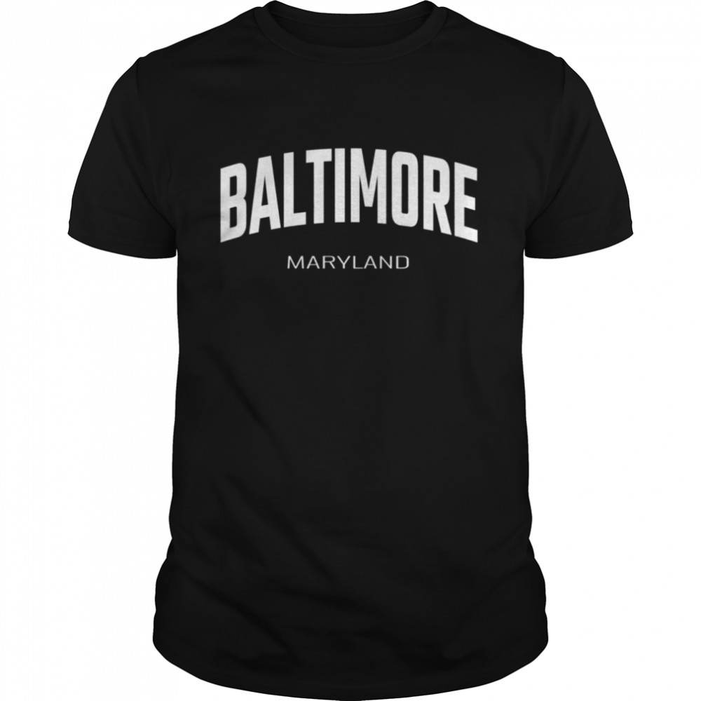 Baltimore Maryland MD vintage state Athletic style shirt Classic Men's T-shirt