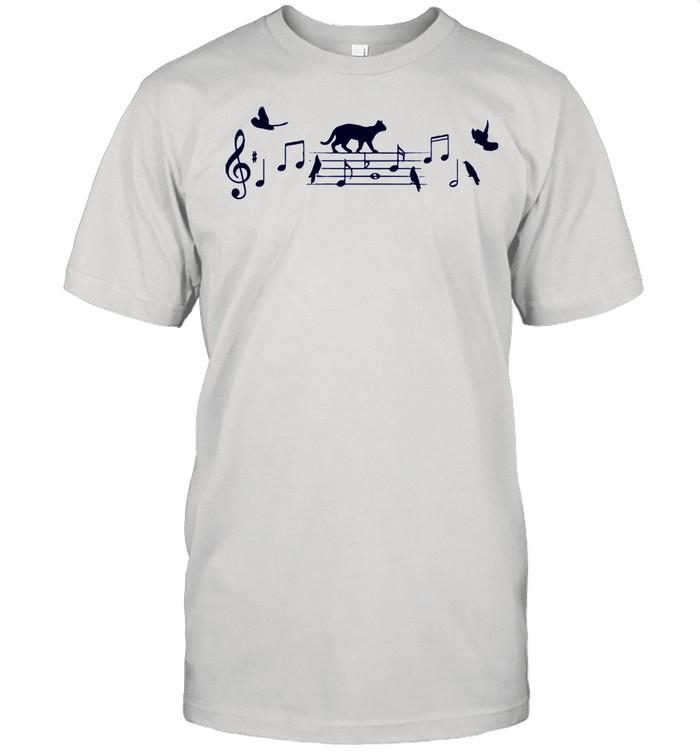 Cat music note shirt Classic Men's T-shirt