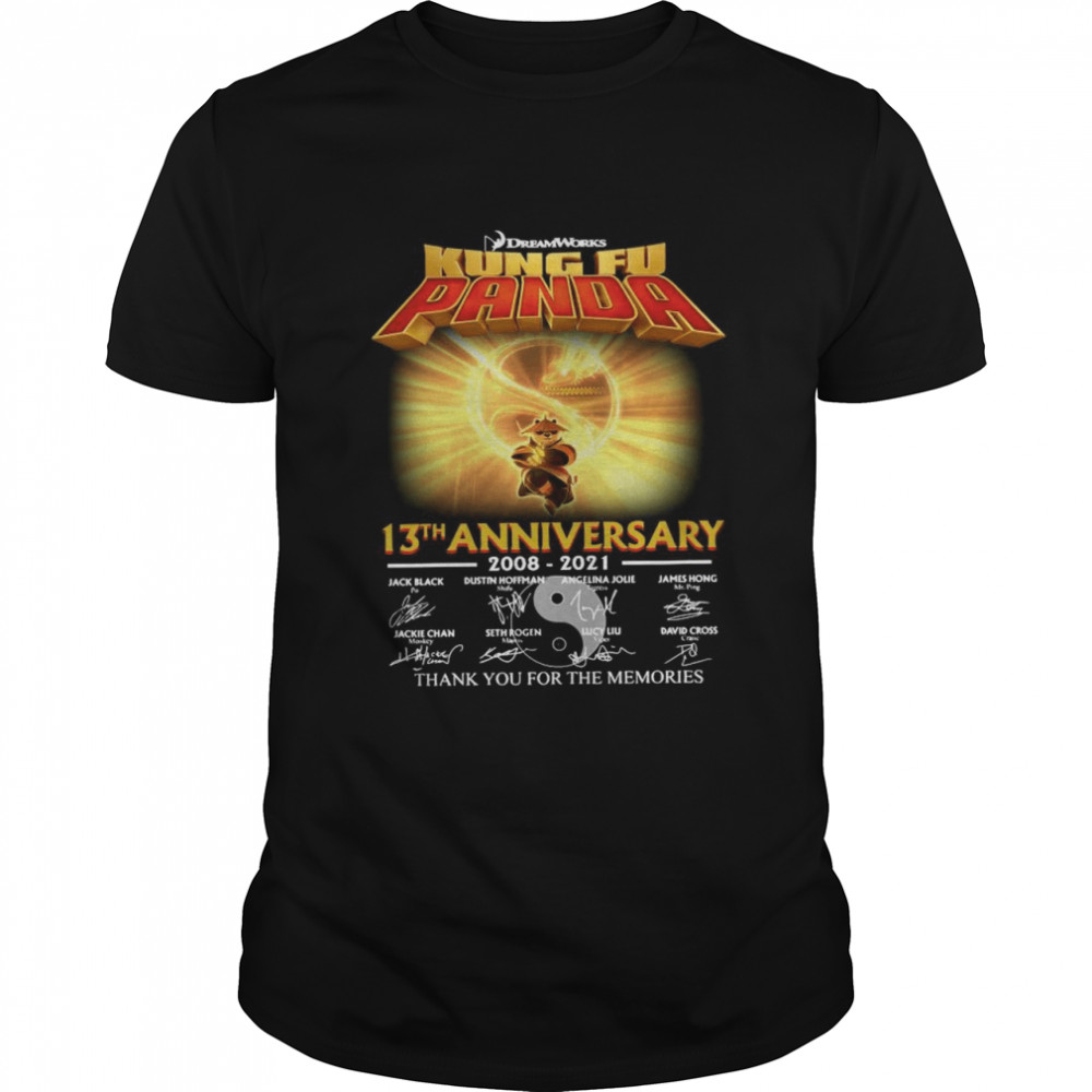 Dreamworks kung Fu Panda 13th anniversary thank you for the memories signatures shirt Classic Men's T-shirt
