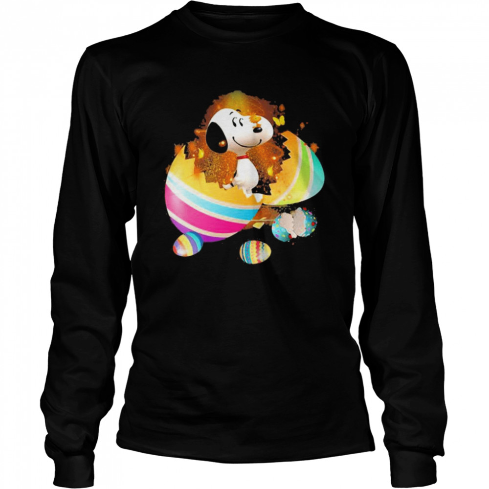 Egg Snoopy Happy Easter Day  Long Sleeved T-shirt