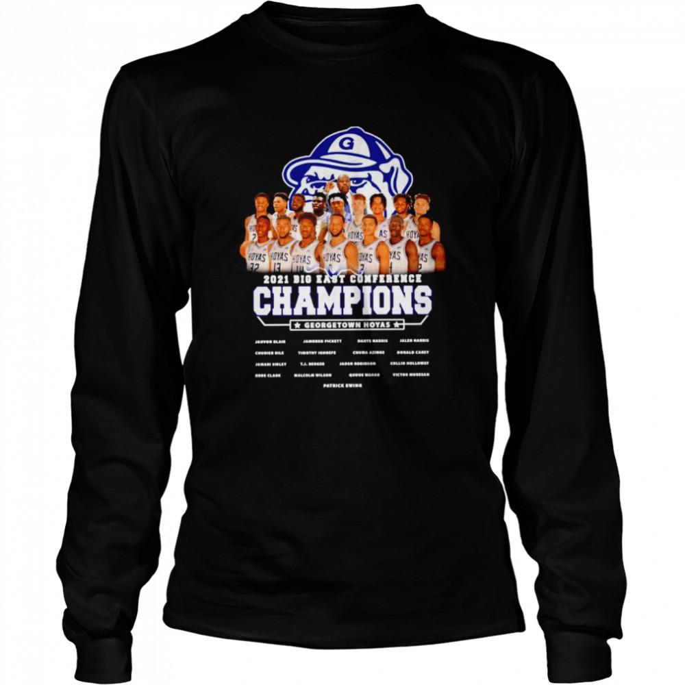 Gonzaga Bulldogs 2021 Big East conference champions Georgetown hoyas shirt Long Sleeved T-shirt