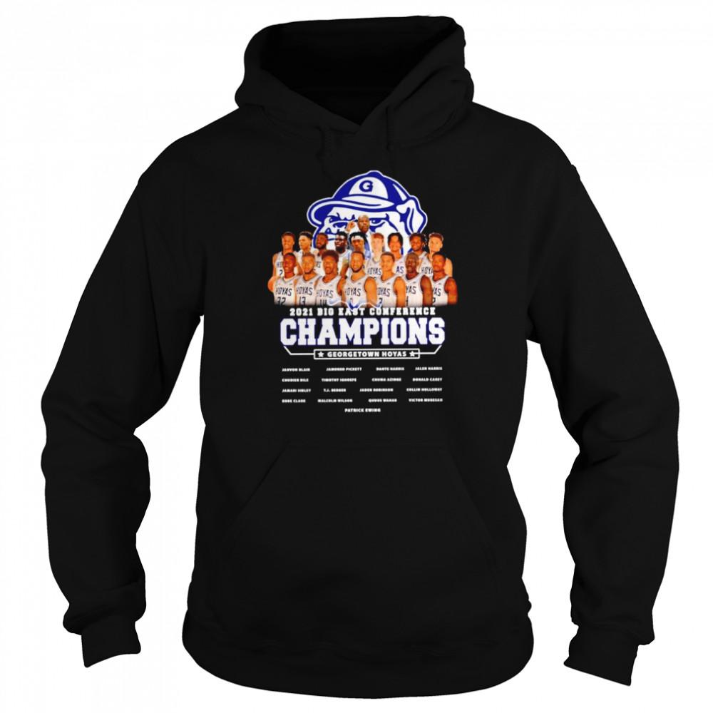Gonzaga Bulldogs 2021 Big East conference champions Georgetown hoyas shirt Unisex Hoodie