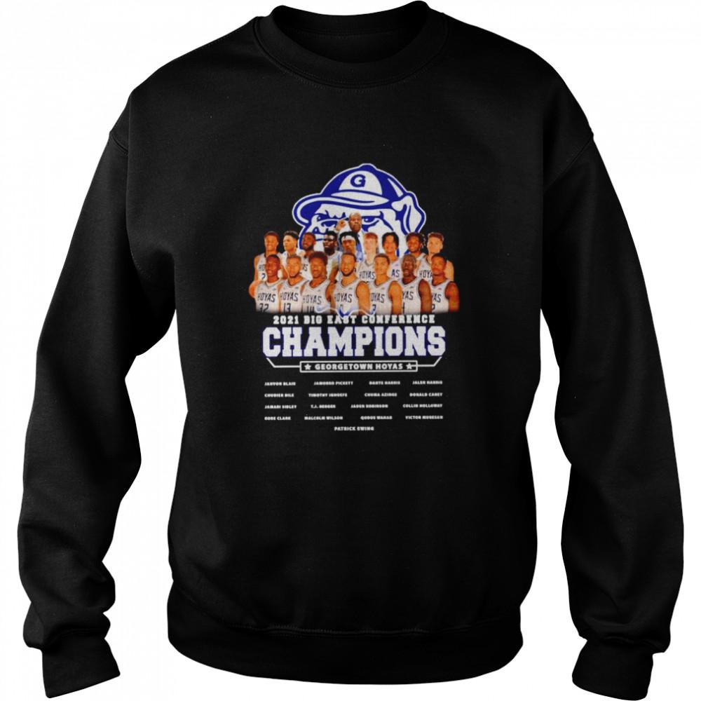Gonzaga Bulldogs 2021 Big East conference champions Georgetown hoyas shirt Unisex Sweatshirt