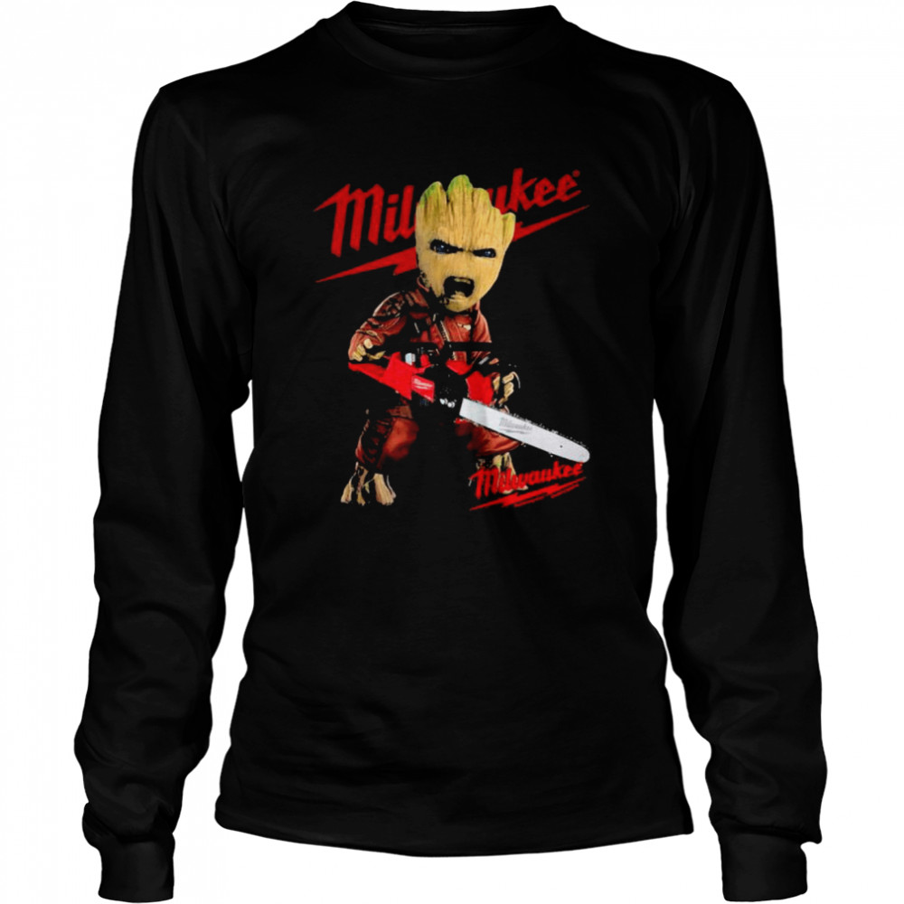 Groot With Logo Milwaukee  Long Sleeved T-shirt