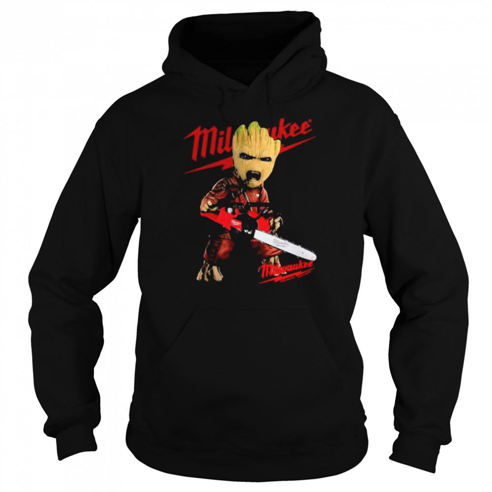 Groot With Logo Milwaukee  Unisex Hoodie