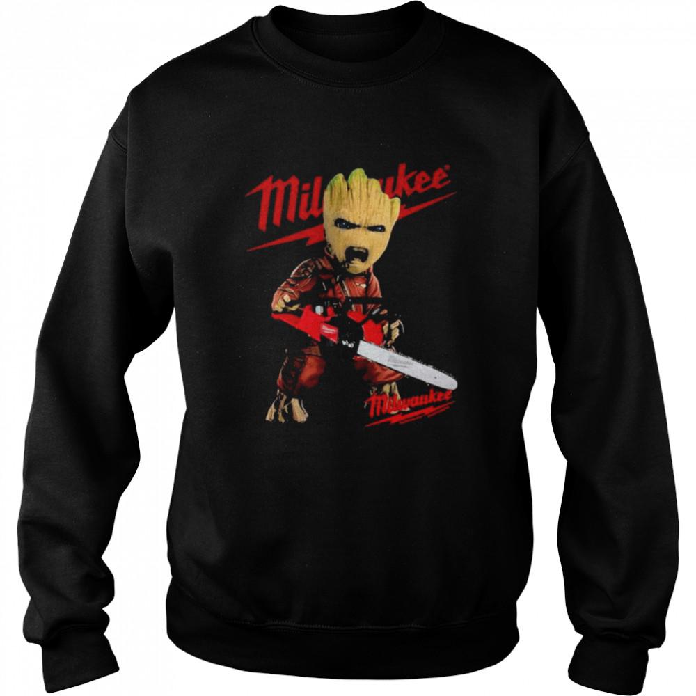 Groot With Logo Milwaukee  Unisex Sweatshirt