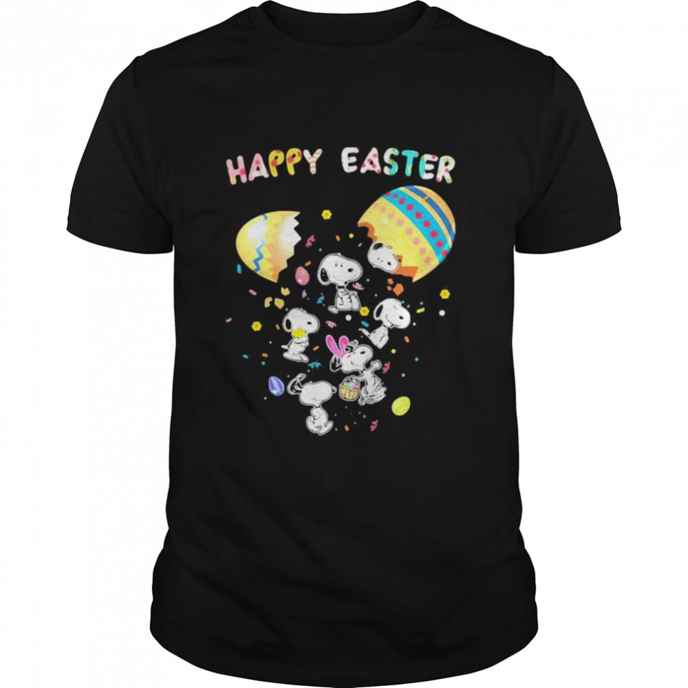 Happy Easter Egg Snoopy Rabbit  Classic Men's T-shirt