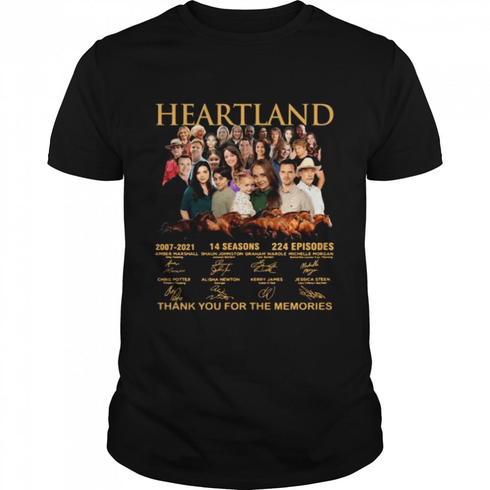 Heartland 14 seasons 224 episodes thank you for the memories signatures shirt Classic Men's T-shirt