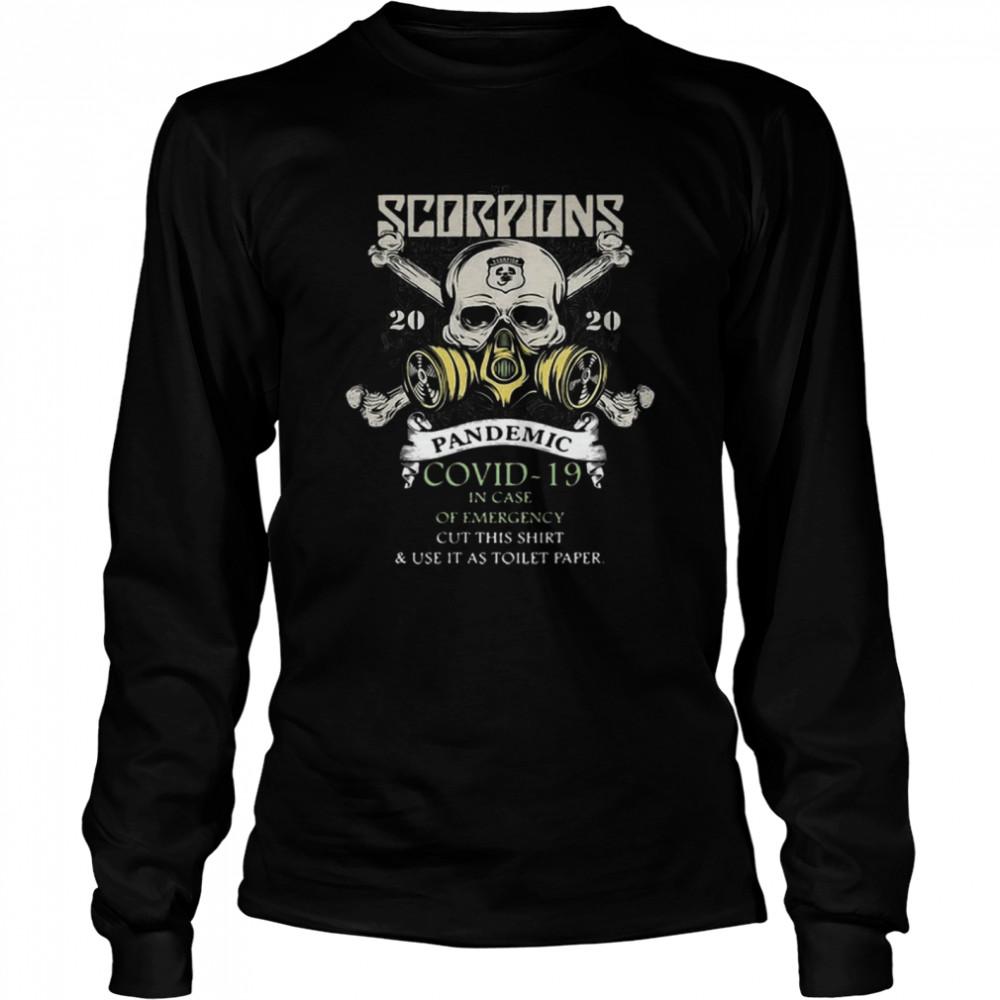Hot Scorpions 2020 Pandemic Covid 19 Emergency hirt Long Sleeved T-shirt