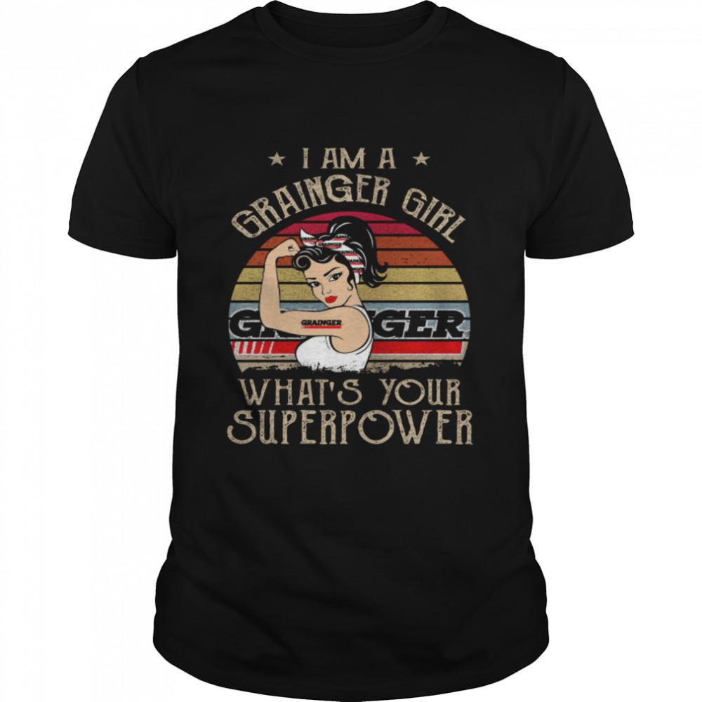 I Am A Grainger Girl Whats Your Superpower shirt Classic Men's T-shirt