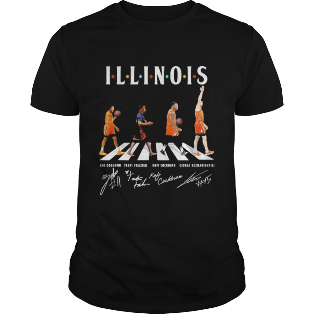 Illinois Abbey Road Signatures  Classic Men's T-shirt