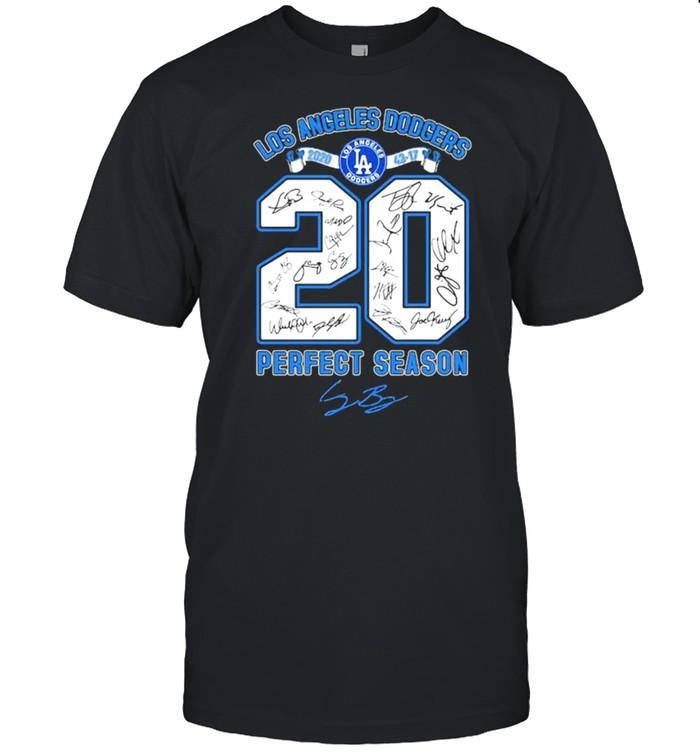 Los Angeles Dodgers Perfect Season Signature  Classic Men's T-shirt