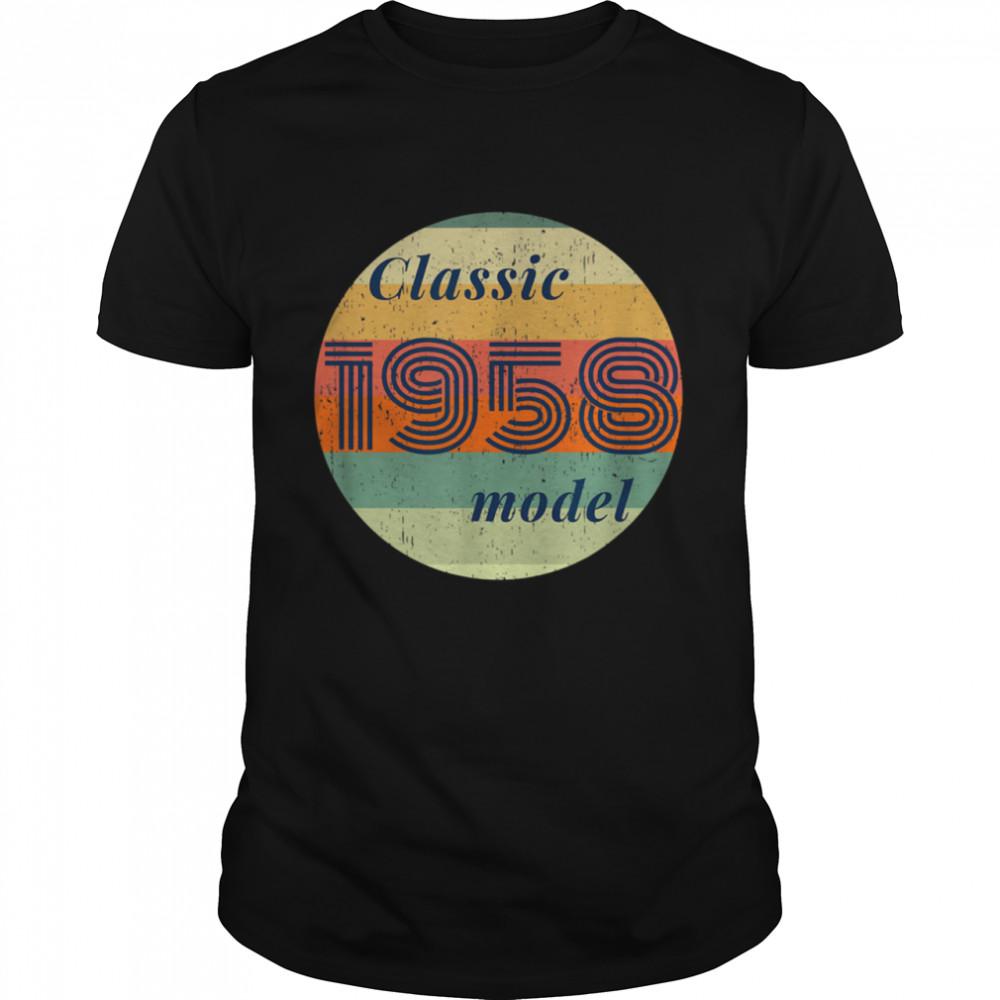 Over 60 Vintage 1958 Birthday Retro Classic 1958 Model shirt Classic Men's T-shirt